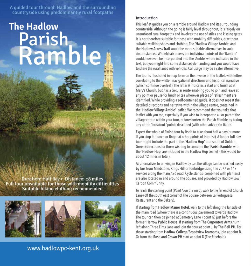 The Hadlow Parish Ramble leaflet