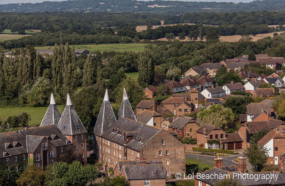 Aerial view of Hadlow - copyright Lol Beacham