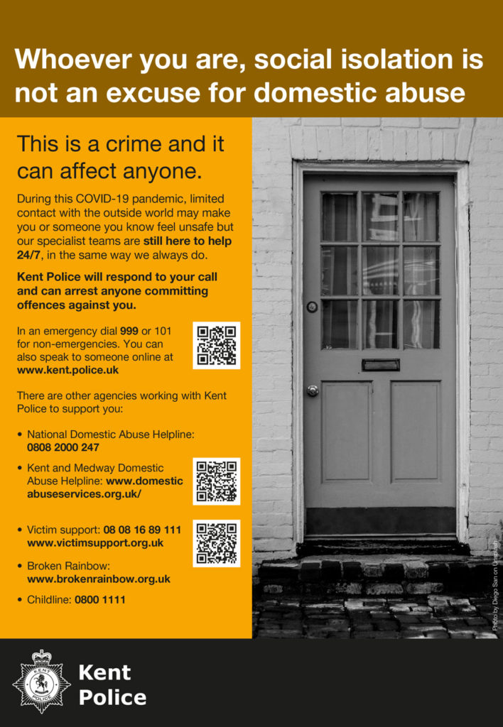 Domestic Abuse Isolation poster - text shown below