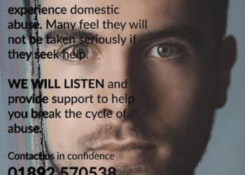 Male domestic violence poster : content follows