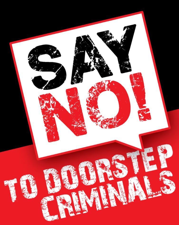 Say No to doorstop criminals poster