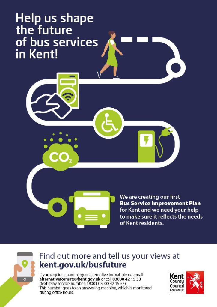 Kent Bus Service Improvement Plan poster