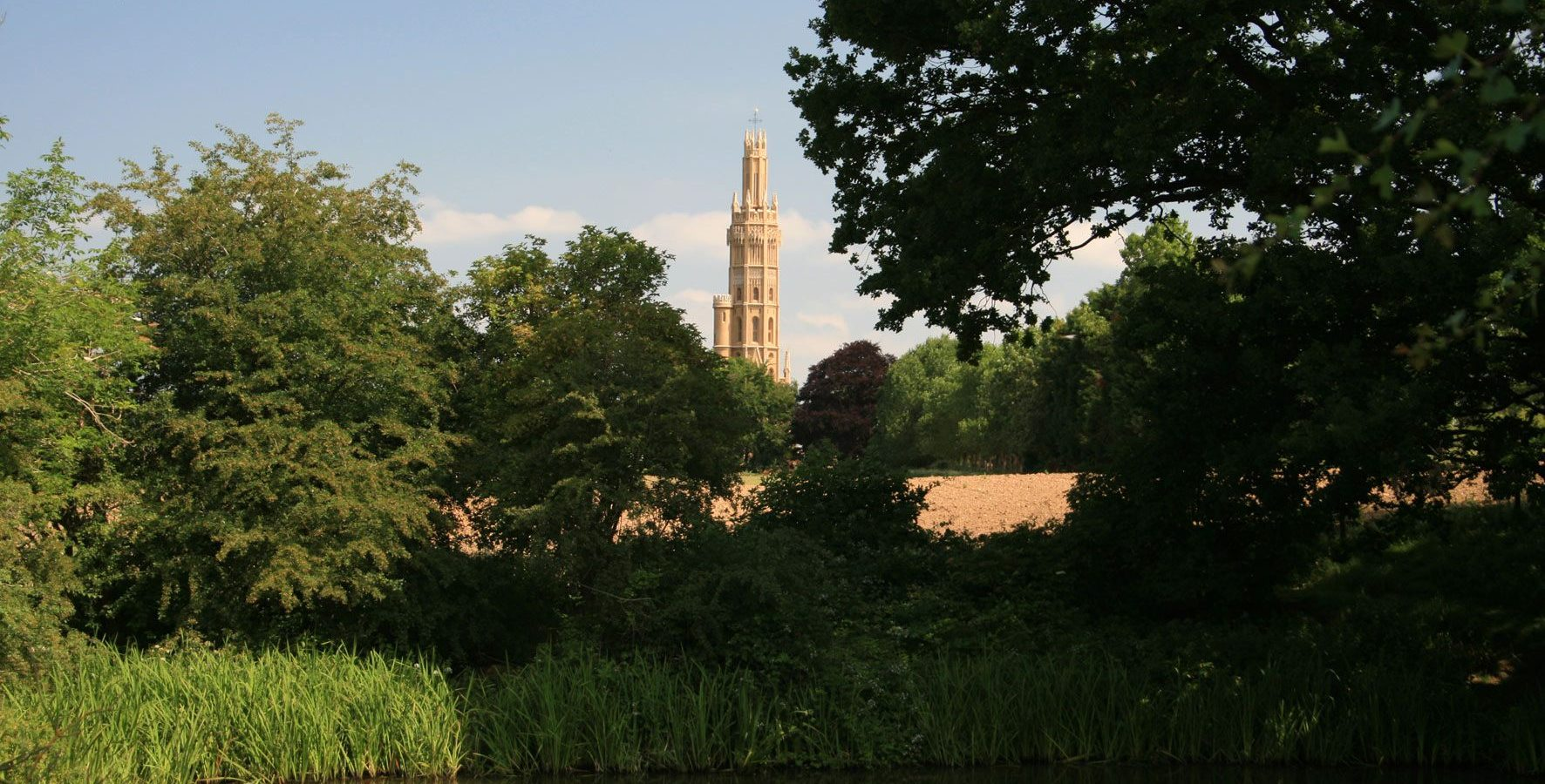 Hadlow Tower from Fishpond Landscape - copyright Roger Stanley